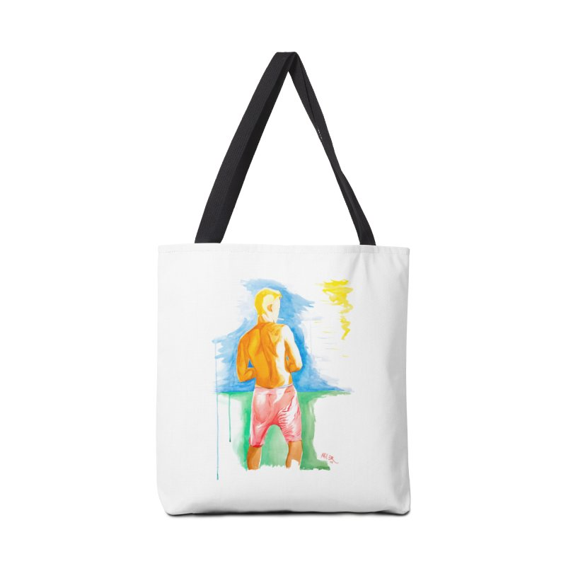 SMOKING GUY IN THE PARK Accessories Bag by Dror Miler's Artist Shop