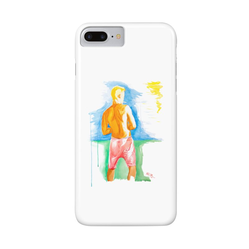 SMOKING GUY IN THE PARK Accessories Phone Case by Dror Miler's Artist Shop