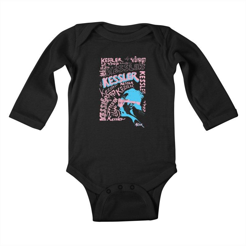 Kessler Ho Kessler Kids Baby Longsleeve Bodysuit by Dror Miler's Artist Shop