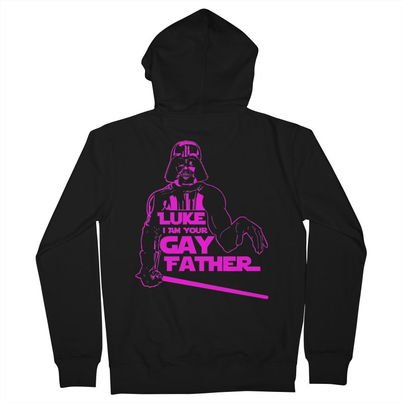 Gay Vader Men's Zip-Up Hoody by Dror Miler's Artist Shop