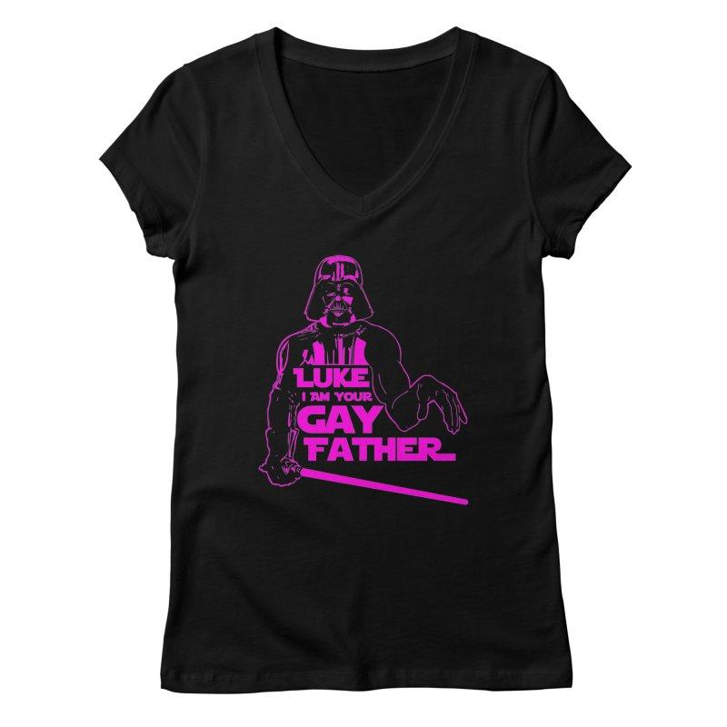 Gay Vader Women's V-Neck by Dror Miler's Artist Shop