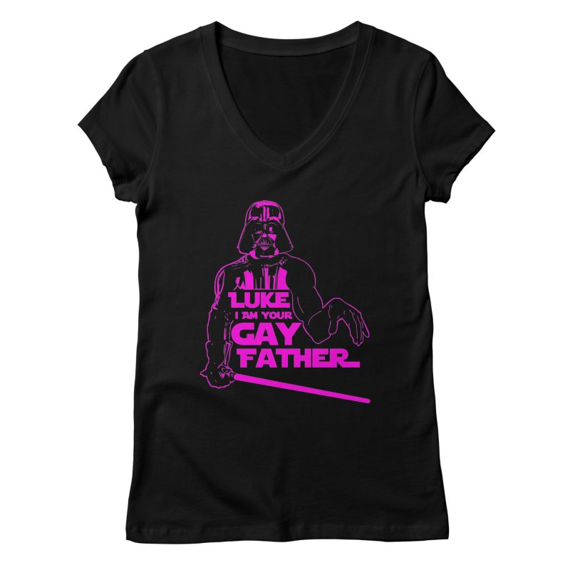 Gay Vader Women's V-Neck by Dror Miler's Artist Shop