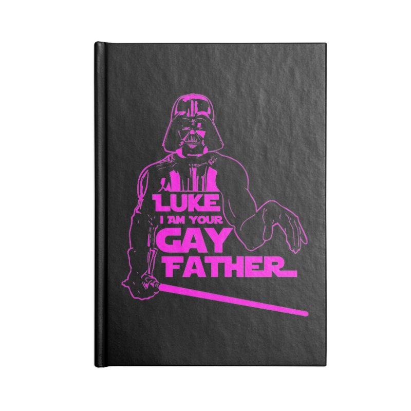 Gay Vader Accessories Notebook by Dror Miler's Artist Shop