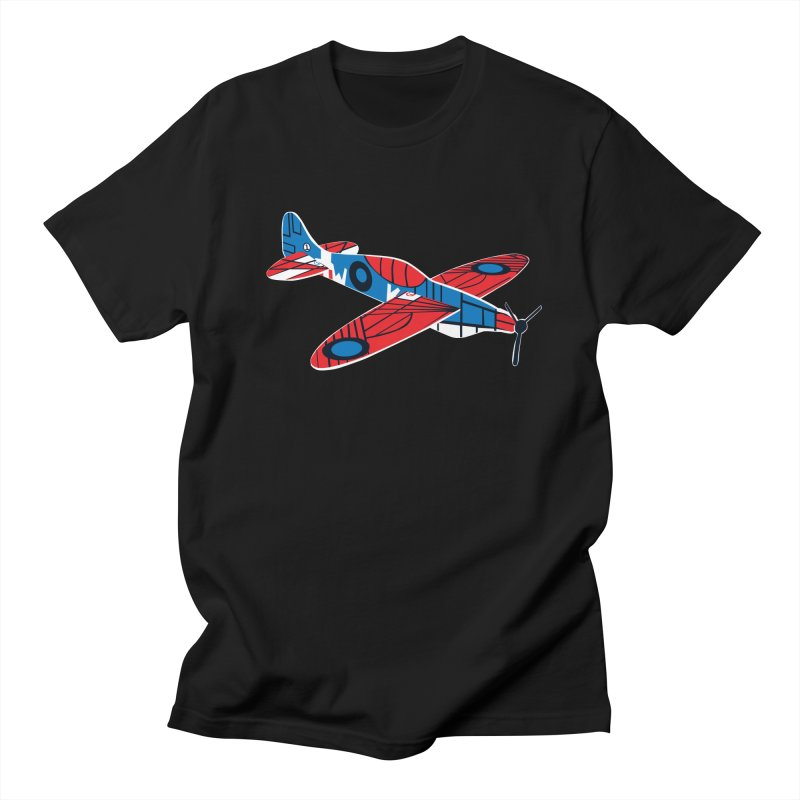 Styrofoam airplane in Men's T-Shirt Black by Dror Miler's Artist Shop