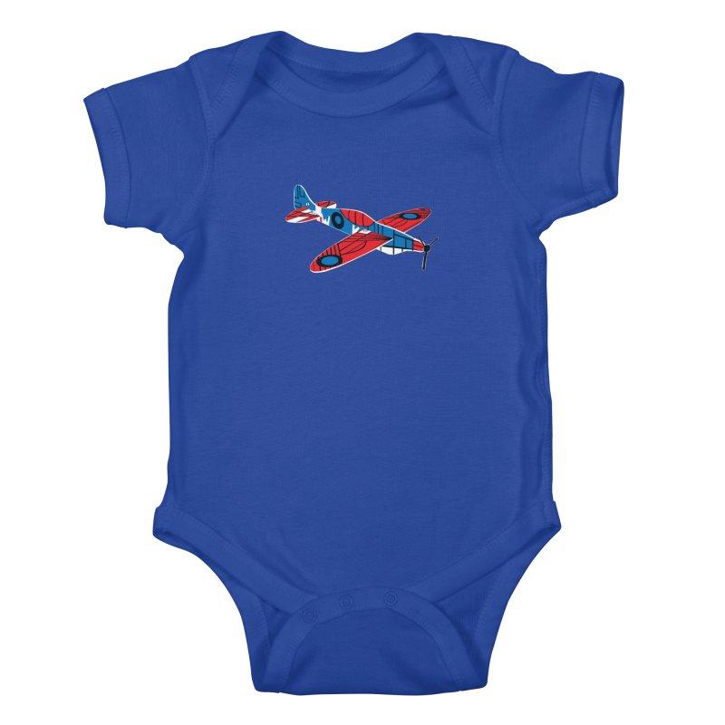Styrofoam airplane Kids Baby Bodysuit by Dror Miler's Artist Shop