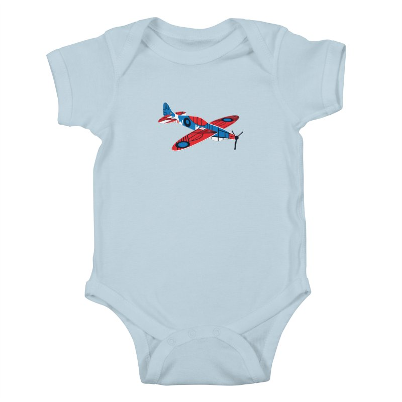 Styrofoam airplane Kids Baby Bodysuit by Dror Miler's Artist Shop