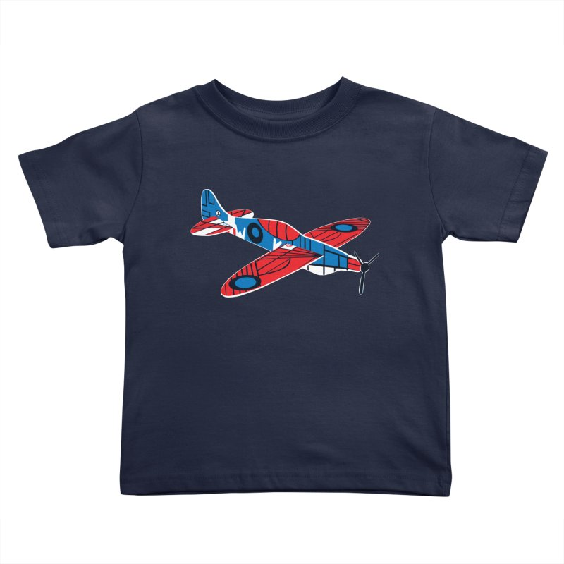 Styrofoam airplane Kids Toddler T-Shirt by Dror Miler's Artist Shop