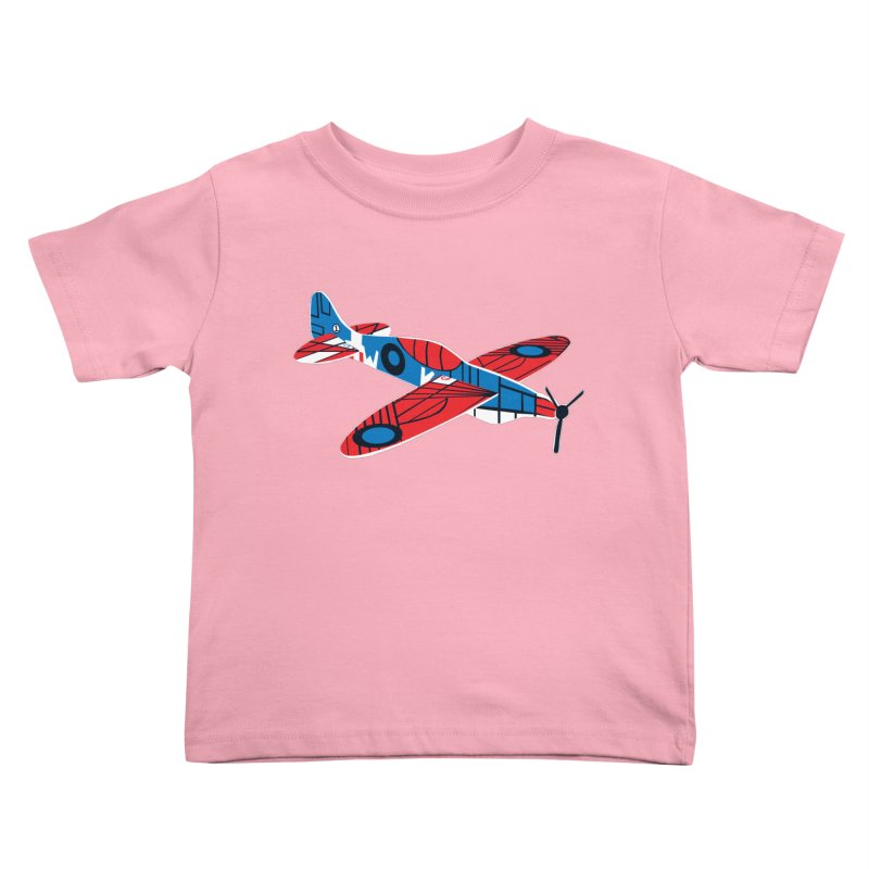 Styrofoam airplane Kids Toddler T-Shirt by Dror Miler's Artist Shop