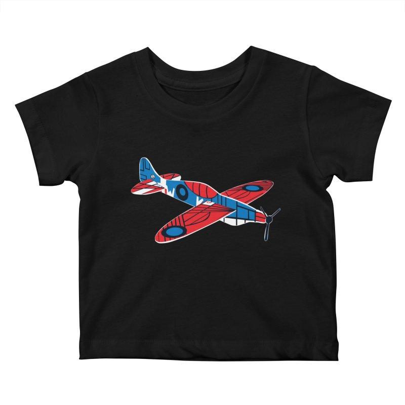 Styrofoam airplane Kids Baby T-Shirt by Dror Miler's Artist Shop