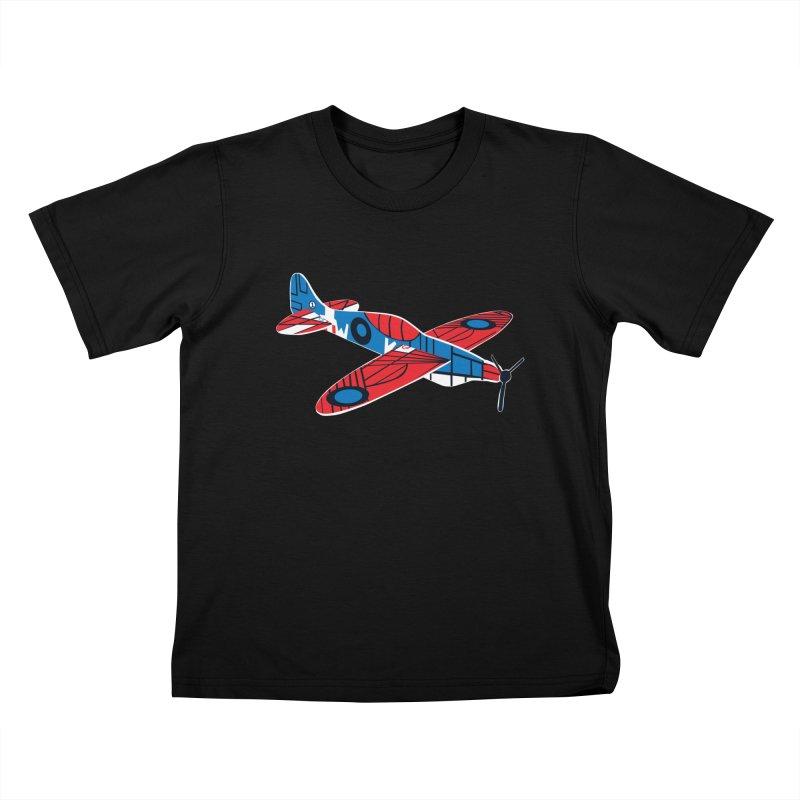 Styrofoam airplane Kids T-Shirt by Dror Miler's Artist Shop