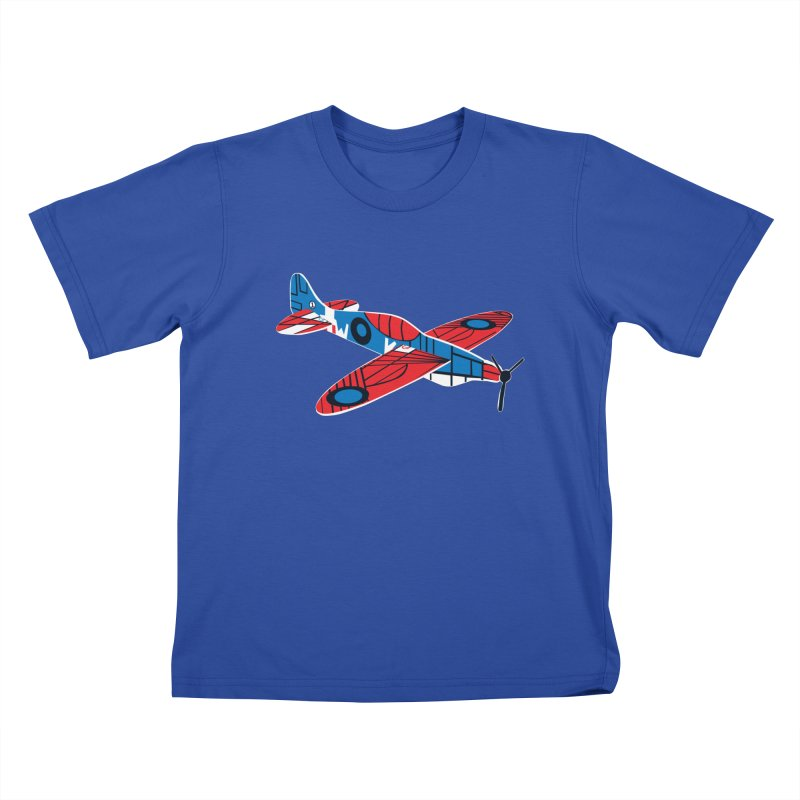 Styrofoam airplane Kids T-shirt by Dror Miler's Artist Shop