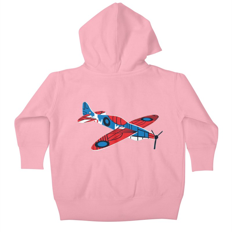Styrofoam airplane Kids Baby Zip-Up Hoody by Dror Miler's Artist Shop