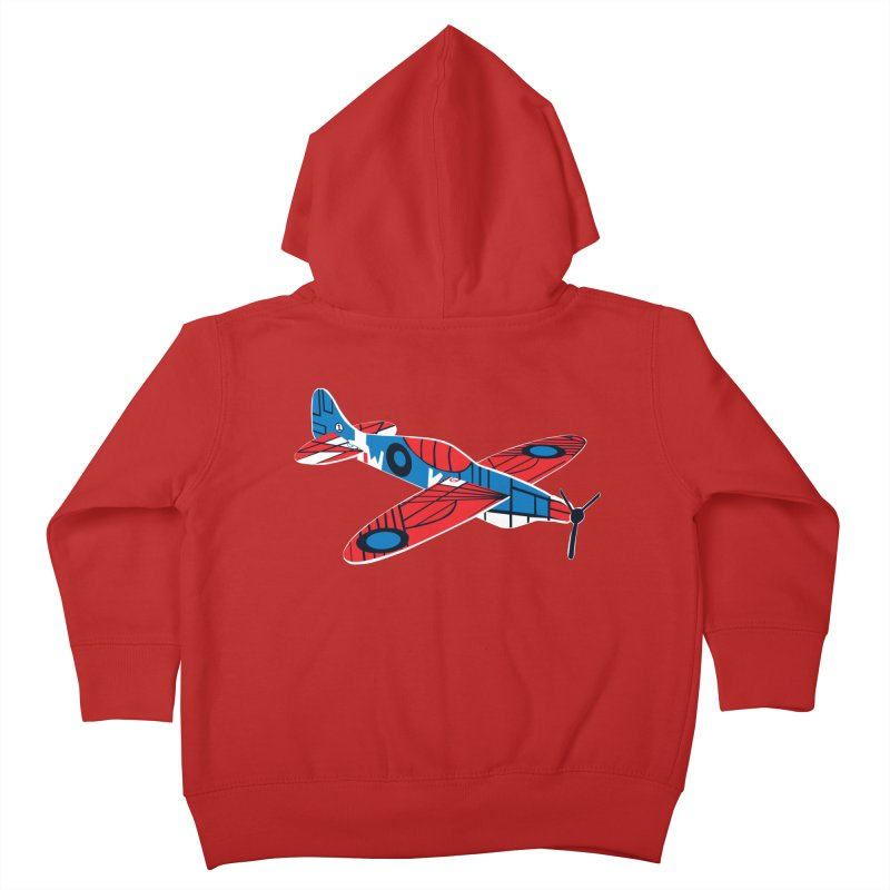 Styrofoam airplane Kids Toddler Zip-Up Hoody by Dror Miler's Artist Shop