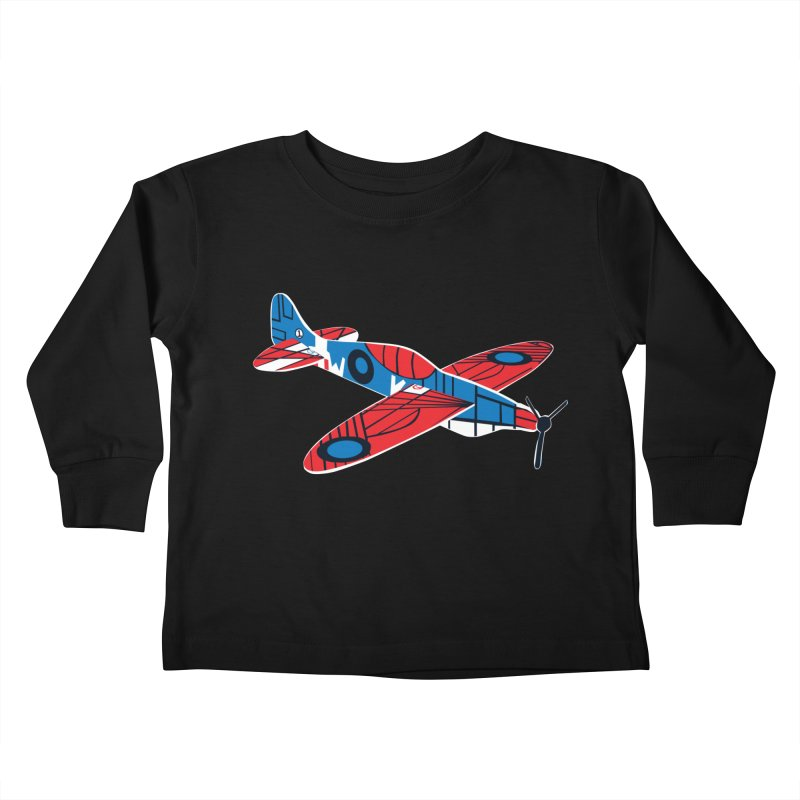 Styrofoam airplane Kids Toddler Longsleeve T-Shirt by Dror Miler's Artist Shop