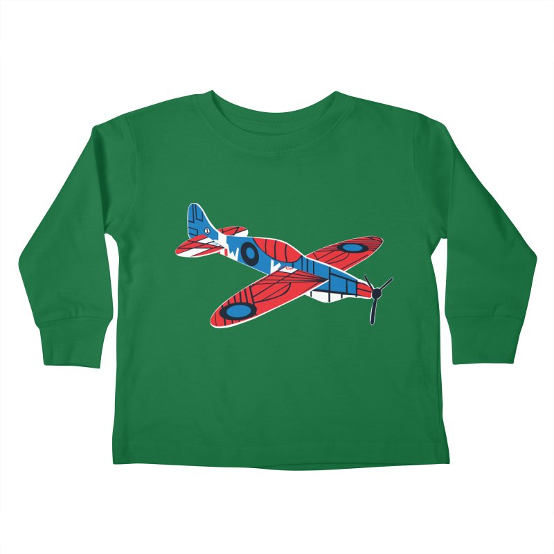 Styrofoam airplane Kids Toddler Longsleeve T-Shirt by Dror Miler's Artist Shop