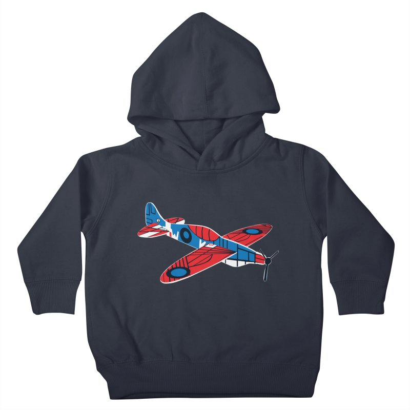 Styrofoam airplane Kids Toddler Pullover Hoody by Dror Miler's Artist Shop
