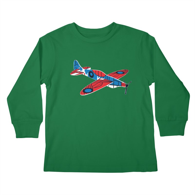 Styrofoam airplane Kids Longsleeve T-Shirt by Dror Miler's Artist Shop