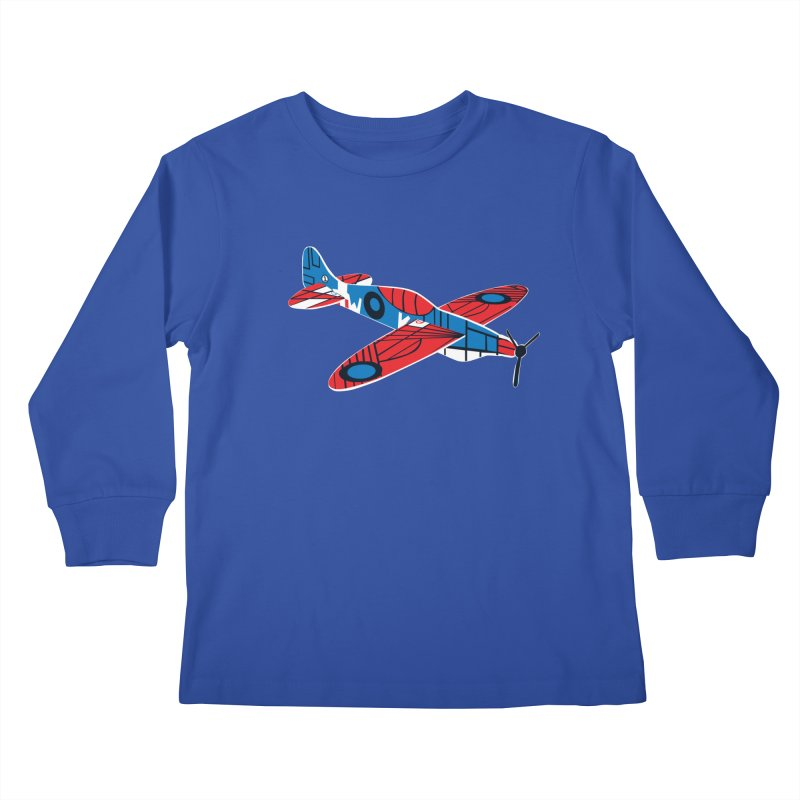 Styrofoam airplane Kids Longsleeve T-Shirt by Dror Miler's Artist Shop