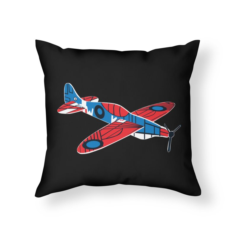 Styrofoam airplane Home Throw Pillow by Dror Miler's Artist Shop