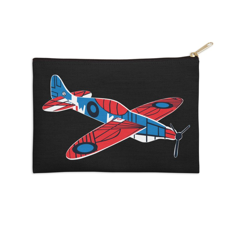 Styrofoam airplane Accessories Zip Pouch by Dror Miler's Artist Shop