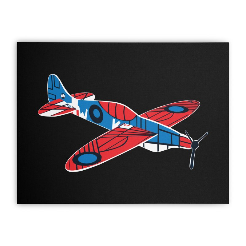 Styrofoam airplane Home Stretched Canvas by Dror Miler's Artist Shop