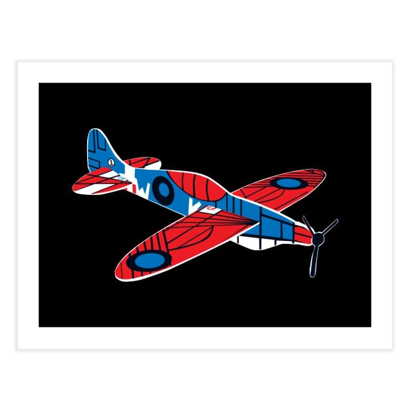 Styrofoam airplane Home Fine Art Print by Dror Miler's Artist Shop