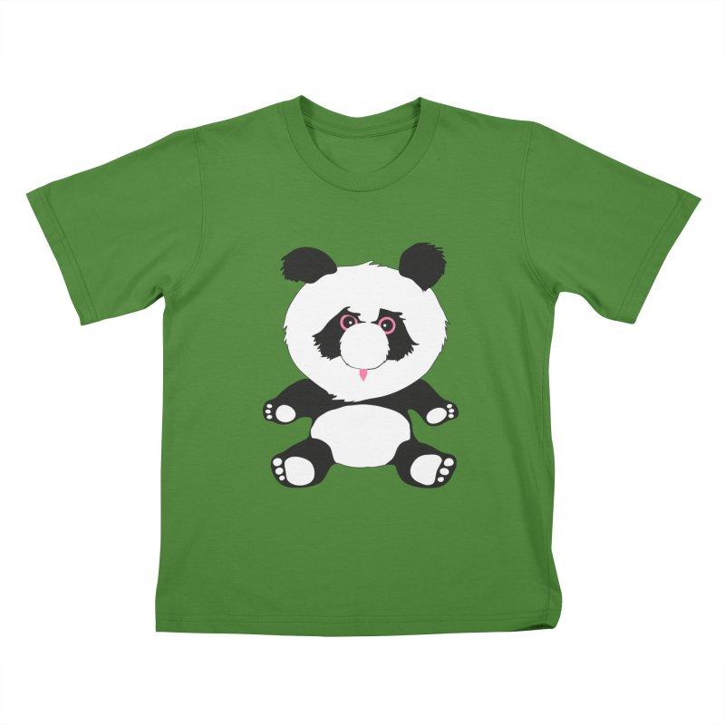 Panda Kids T-shirt by Dror Miler's Artist Shop