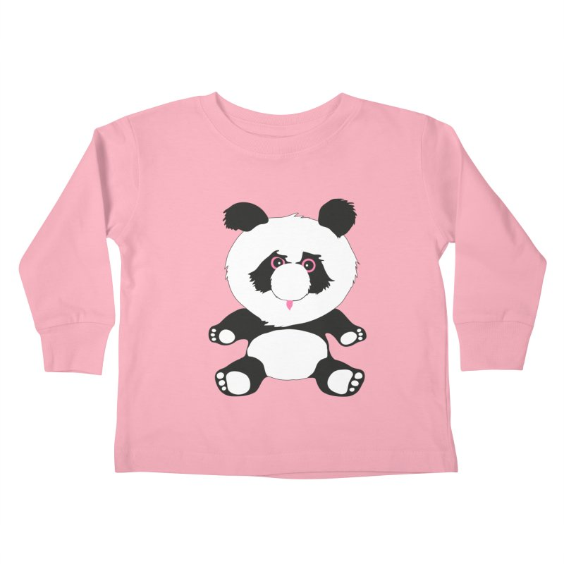 Panda Kids Toddler Longsleeve T-Shirt by Dror Miler's Artist Shop