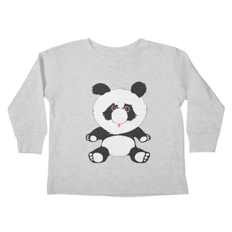 Panda Kids Toddler Longsleeve T-Shirt by Dror Miler's Artist Shop
