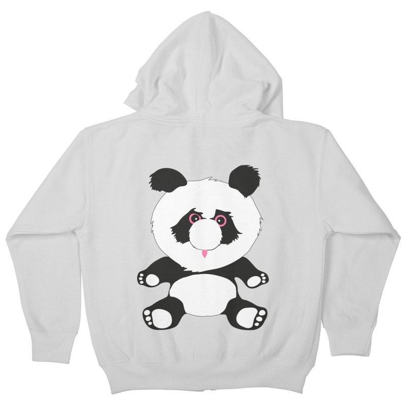 Panda Kids Zip-Up Hoody by Dror Miler's Artist Shop