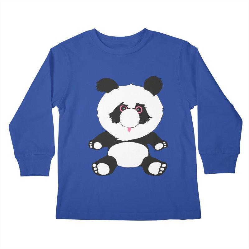 Panda Kids Longsleeve T-Shirt by Dror Miler's Artist Shop