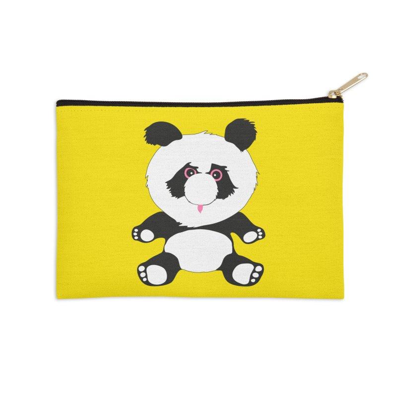Panda Accessories Zip Pouch by Dror Miler's Artist Shop