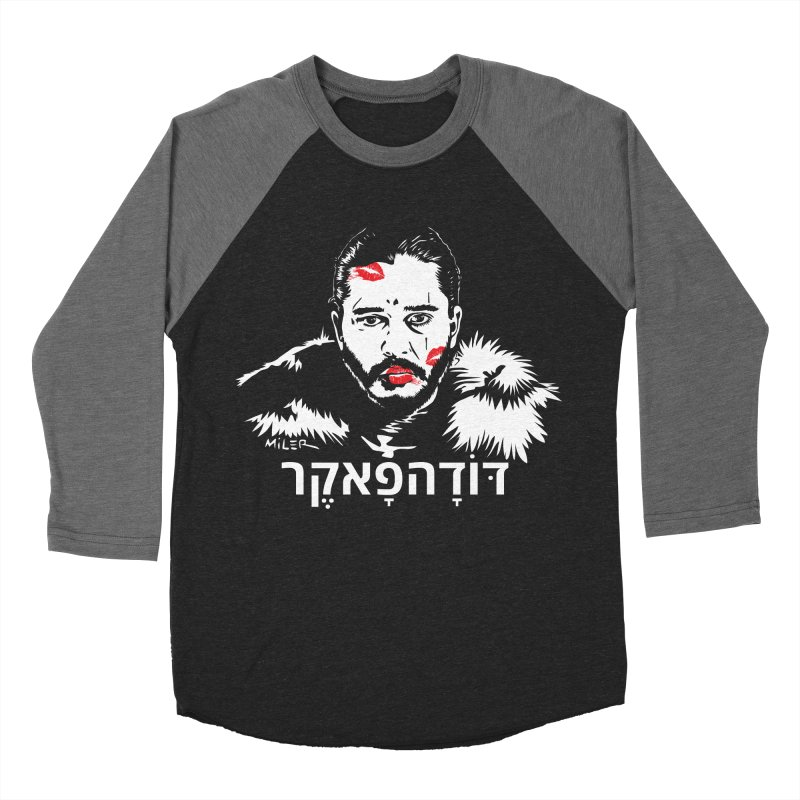 Jon Snow AuntieFucker - Hebrew Women's Baseball Triblend T-Shirt by Dror Miler's Artist Shop