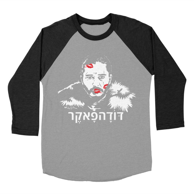 Jon Snow AuntieFucker - Hebrew Women's Baseball Triblend T-Shirt by Dror Miler's Artist Shop