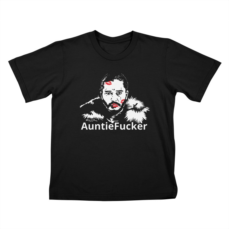 Jon Snow AuntieFucker - English Kids T-shirt by Dror Miler's Artist Shop