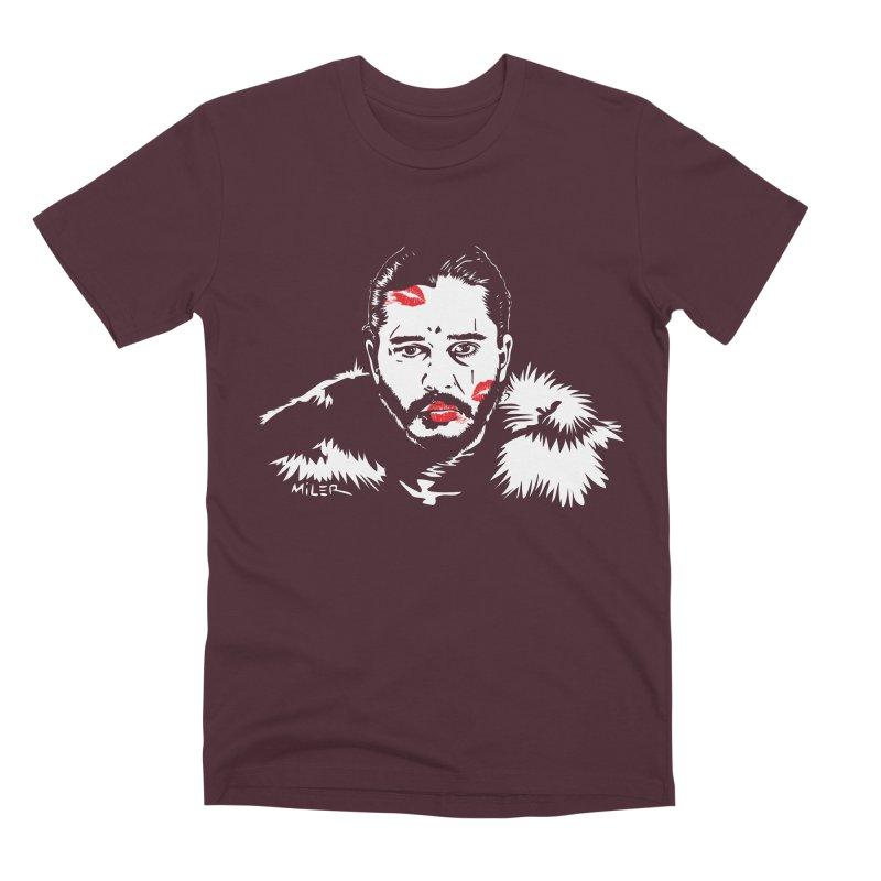 Jon Snow AuntieFucker NO TEXT Men's Premium T-Shirt by Dror Miler's Artist Shop