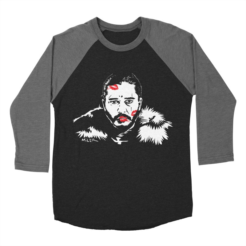 Jon Snow AuntieFucker NO TEXT Men's Baseball Triblend T-Shirt by Dror Miler's Artist Shop