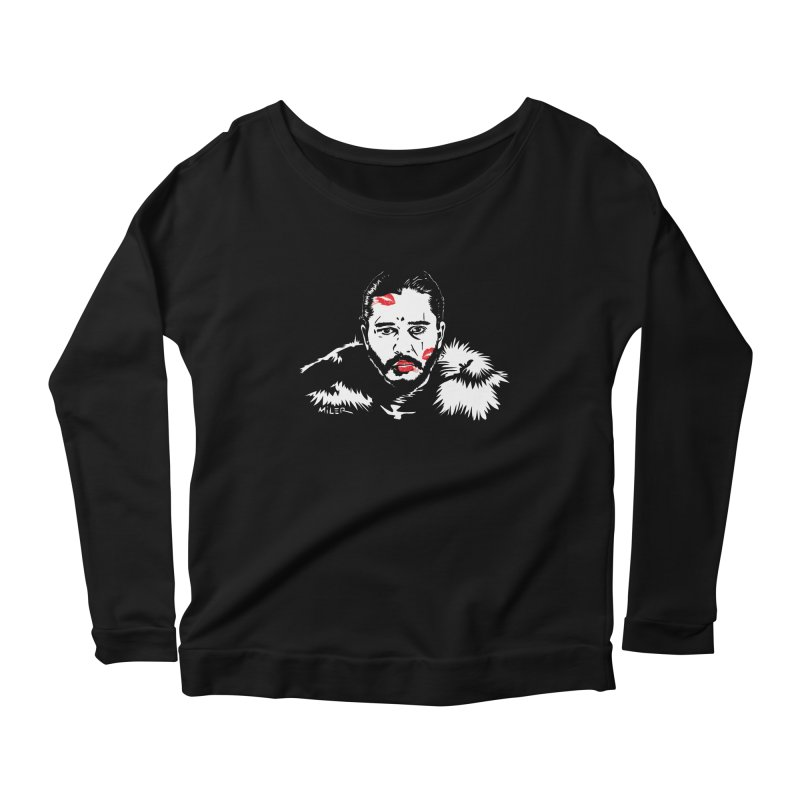Jon Snow AuntieFucker NO TEXT Women's Longsleeve Scoopneck  by Dror Miler's Artist Shop
