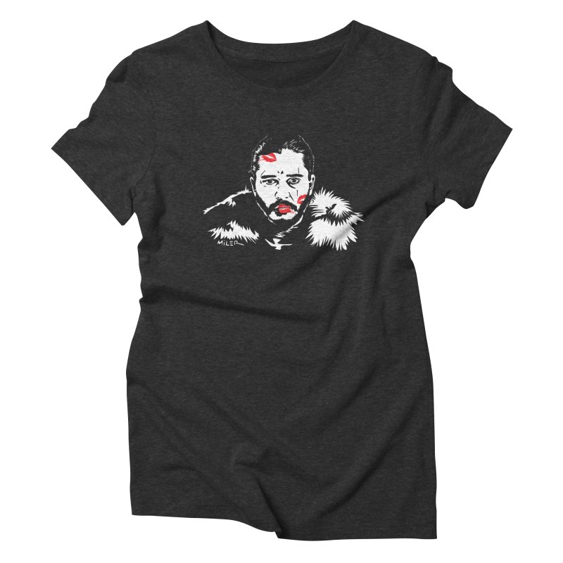 Jon Snow AuntieFucker NO TEXT Women's Triblend T-Shirt by Dror Miler's Artist Shop