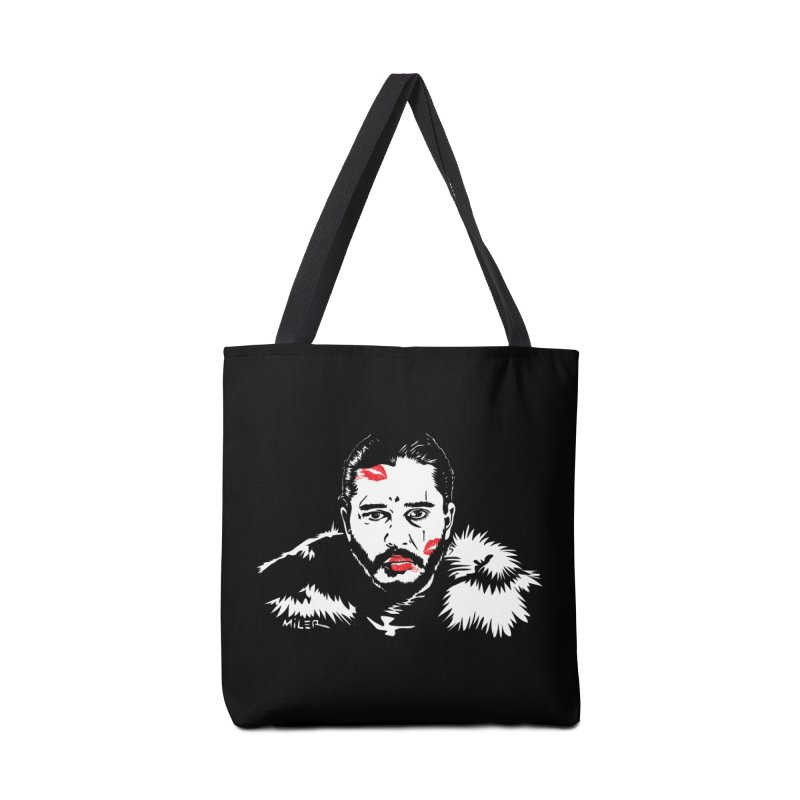 Jon Snow AuntieFucker NO TEXT Accessories Bag by Dror Miler's Artist Shop