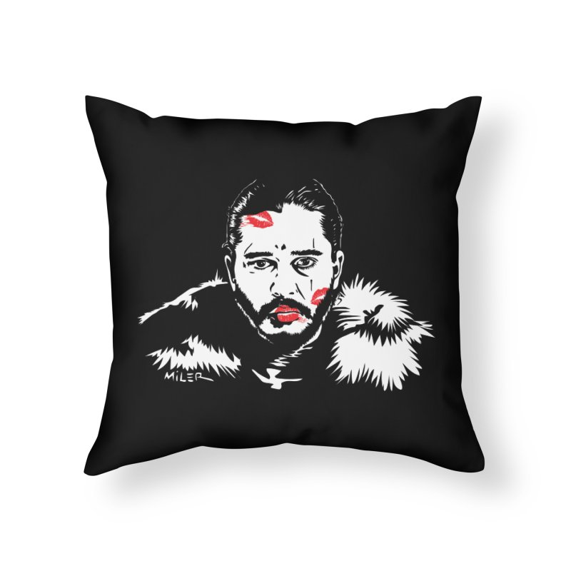 Jon Snow AuntieFucker NO TEXT Home Throw Pillow by Dror Miler's Artist Shop