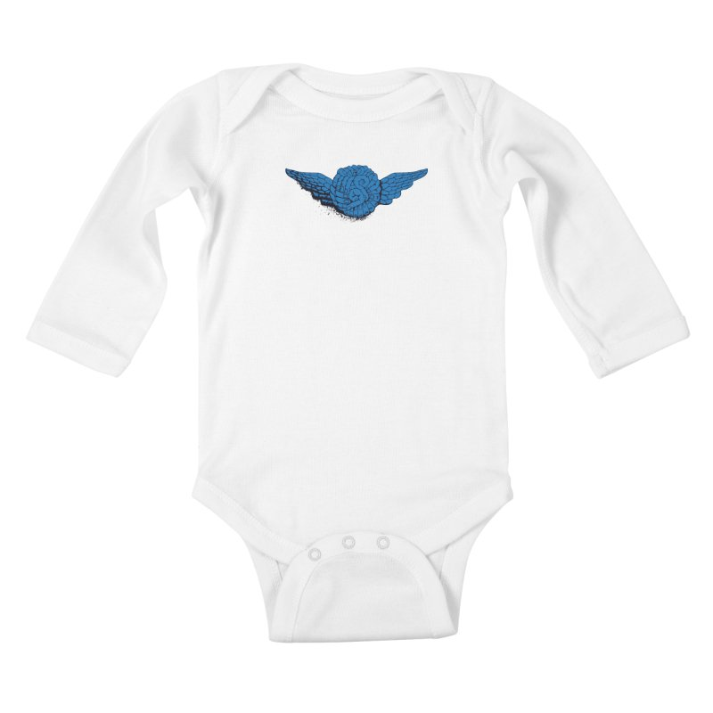 Winged Fingers Ball Kids Baby Longsleeve Bodysuit by Dror Miler's Artist Shop