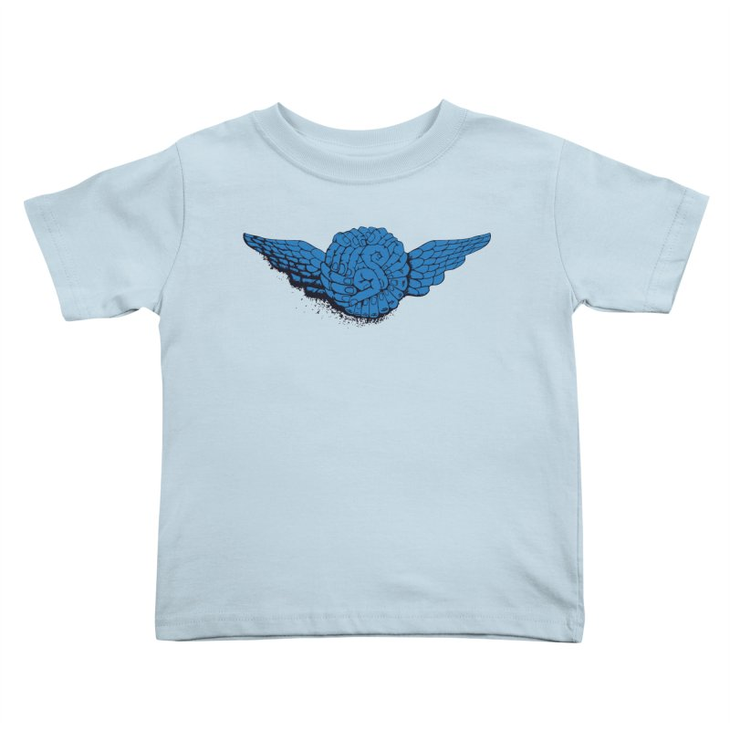 Winged Fingers Ball Kids Toddler T-Shirt by Dror Miler's Artist Shop