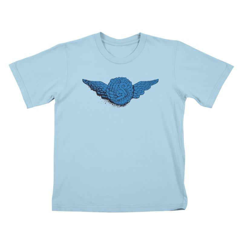 Winged Fingers Ball Kids T-Shirt by Dror Miler's Artist Shop