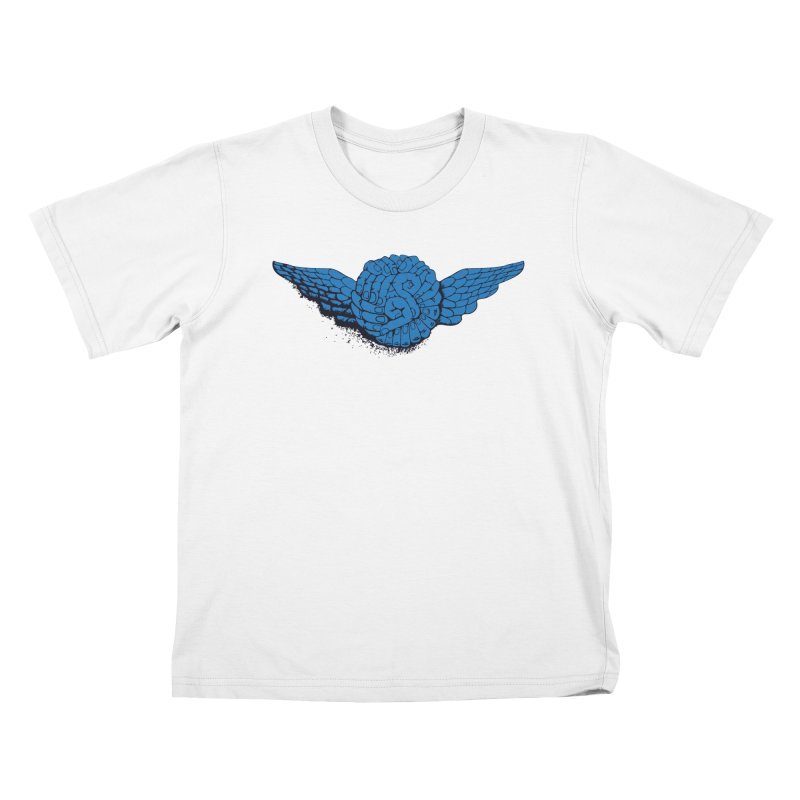 Winged Fingers Ball Kids T-shirt by Dror Miler's Artist Shop