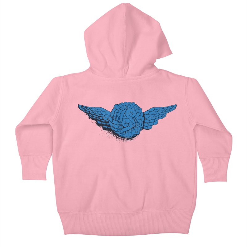 Winged Fingers Ball Kids Baby Zip-Up Hoody by Dror Miler's Artist Shop