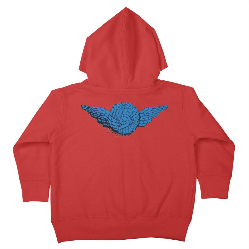 Winged Fingers Ball Kids Toddler Zip-Up Hoody by Dror Miler's Artist Shop