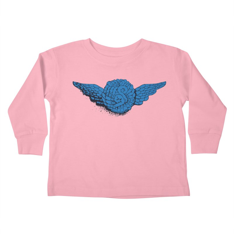 Winged Fingers Ball Kids Toddler Longsleeve T-Shirt by Dror Miler's Artist Shop