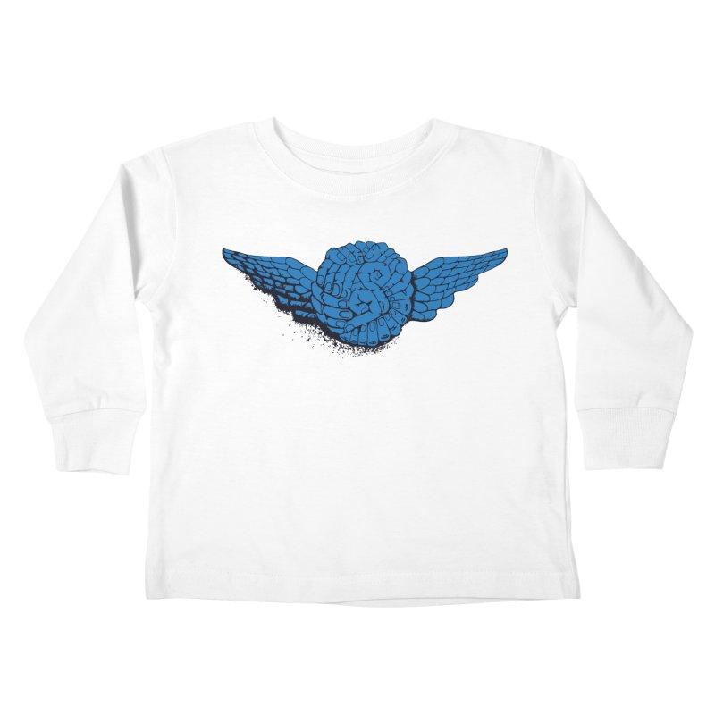 Winged Fingers Ball Kids Toddler Longsleeve T-Shirt by Dror Miler's Artist Shop