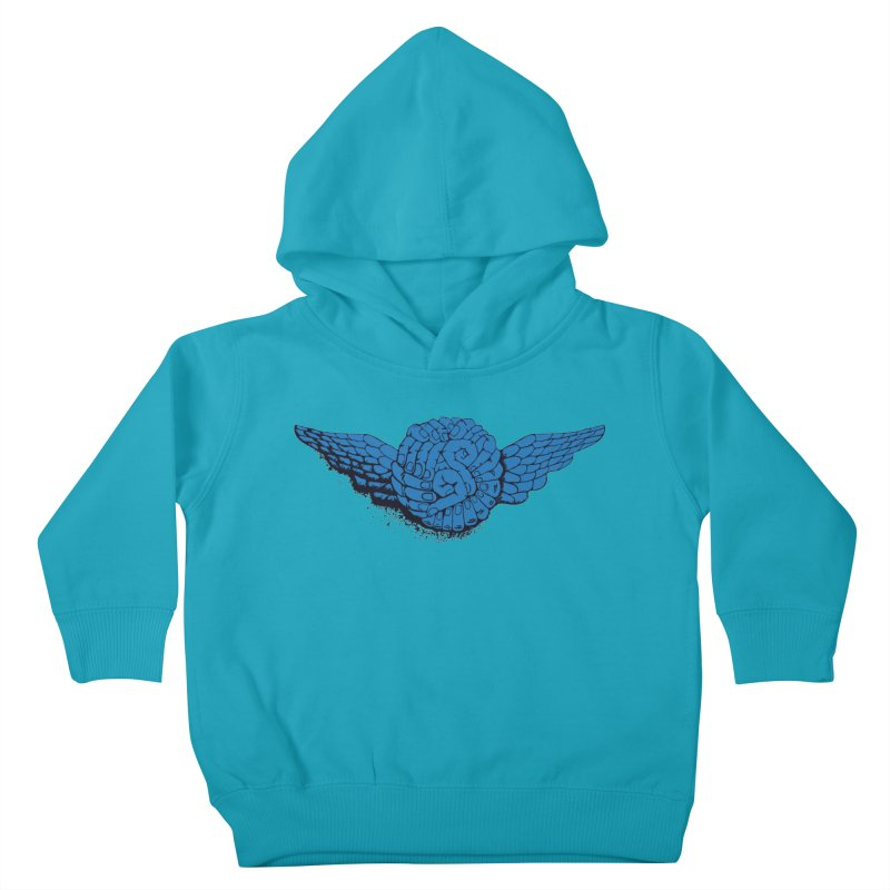 Winged Fingers Ball Kids Toddler Pullover Hoody by Dror Miler's Artist Shop